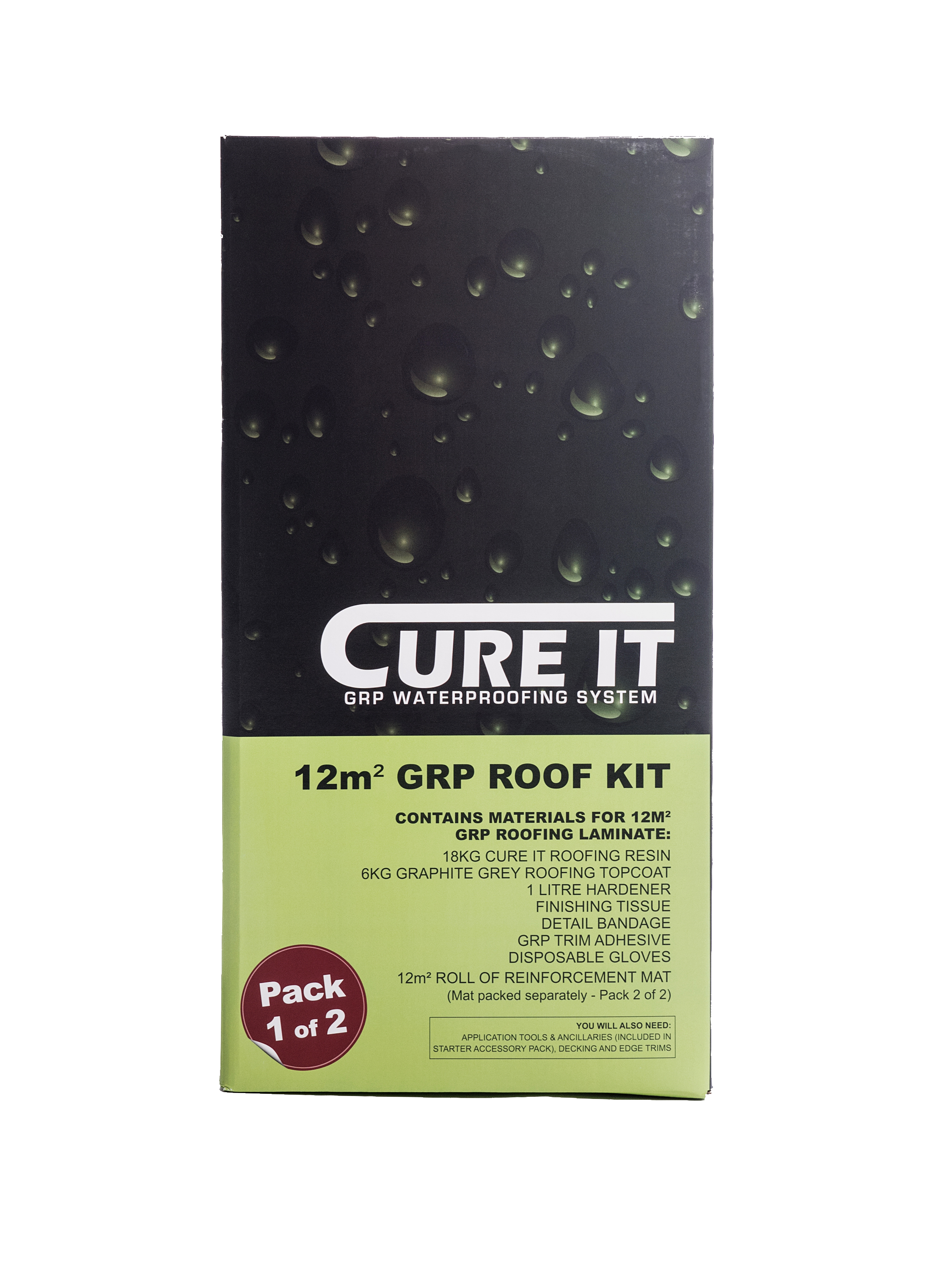 Cure It GRP 12Mtr Sq Roofing Kit   CITCUREITKIT