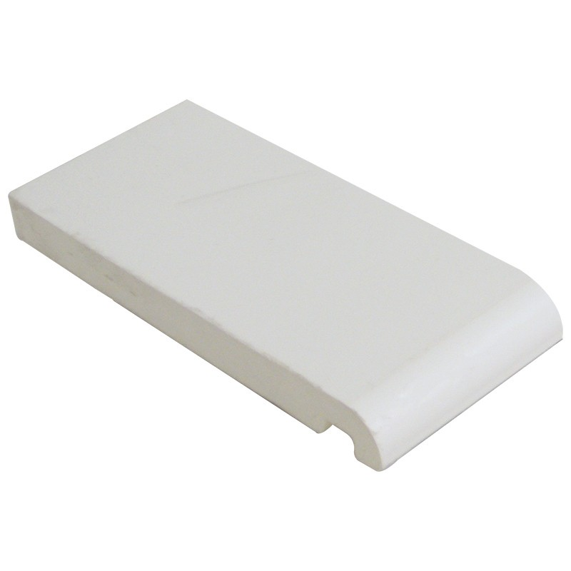 FLOPLAST Mammoth Bullnose Board 16mm - Single Round Edge - 250mm - White