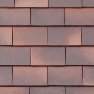 REDLAND ROOFING TILE Rosemary Clay Classic, 82 Medium Mixed Brindle, Smooth Finish, Clay