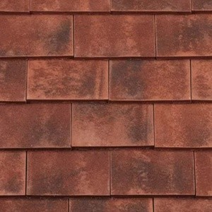 REDLAND ROOFING TILE Rosemary Clay Classic, 91 Burnt Blend (Sanded), Sanded / Granular, Clay