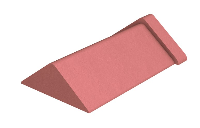 MARLEY TILES Clay 450mm Capped Angle Stop Ends