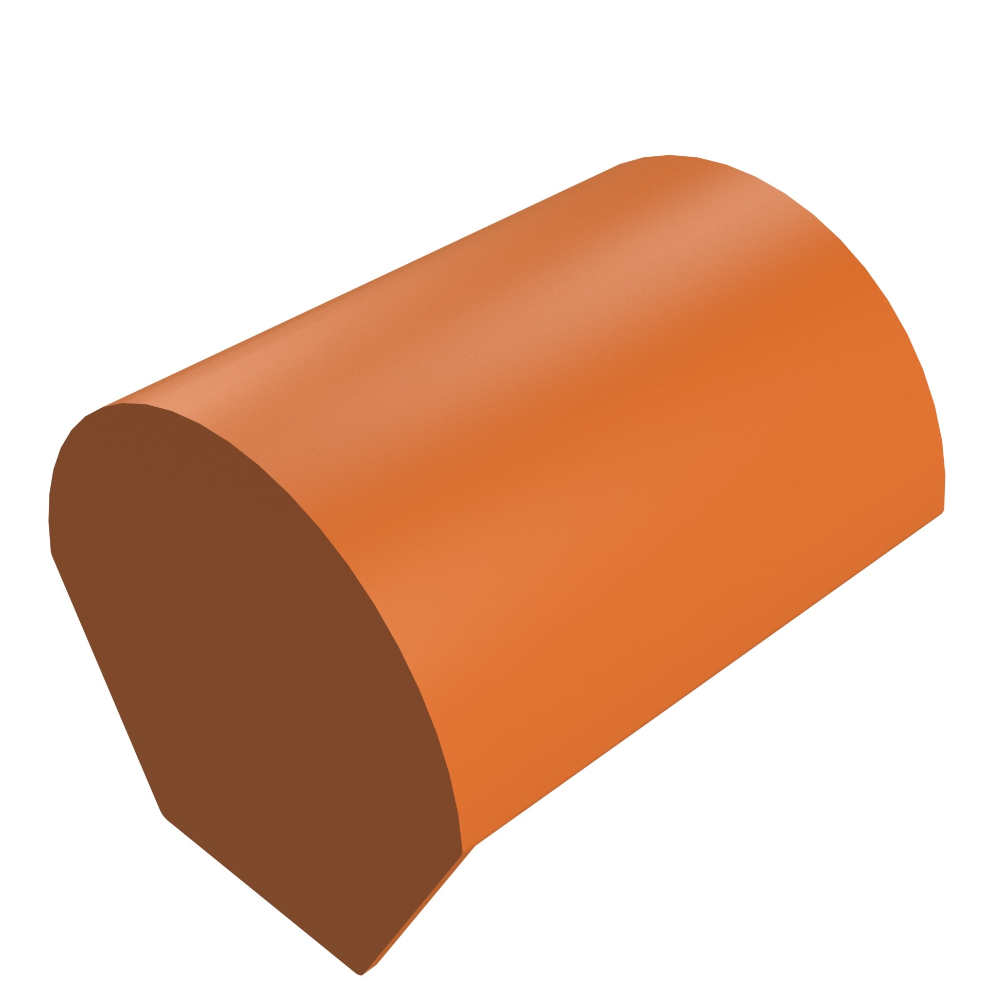 SANDTOFT TILES - Clay Half Round Risge With Block End