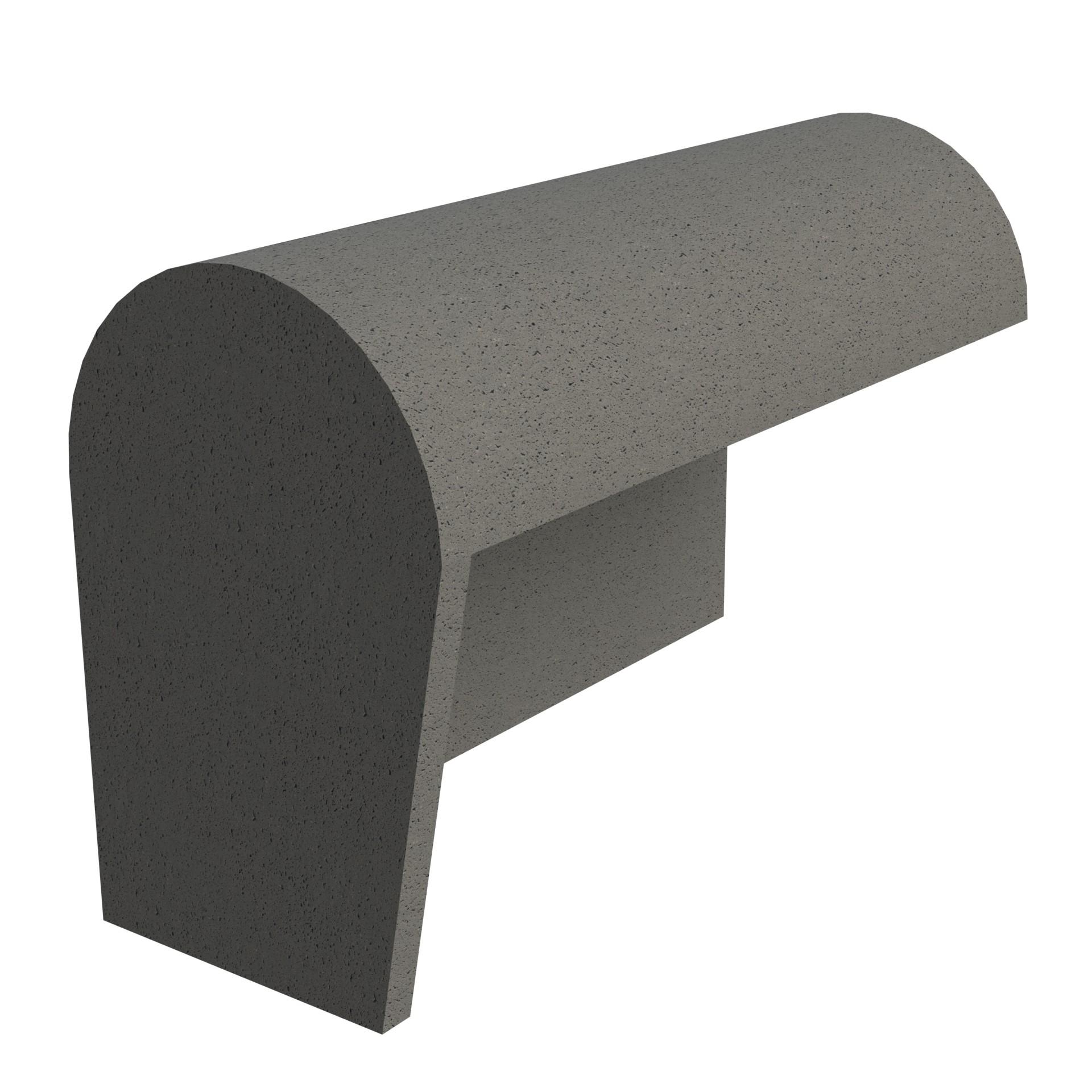 SANDTOFT TILES - Concrete Half Round Mono Ridge With Block End LH