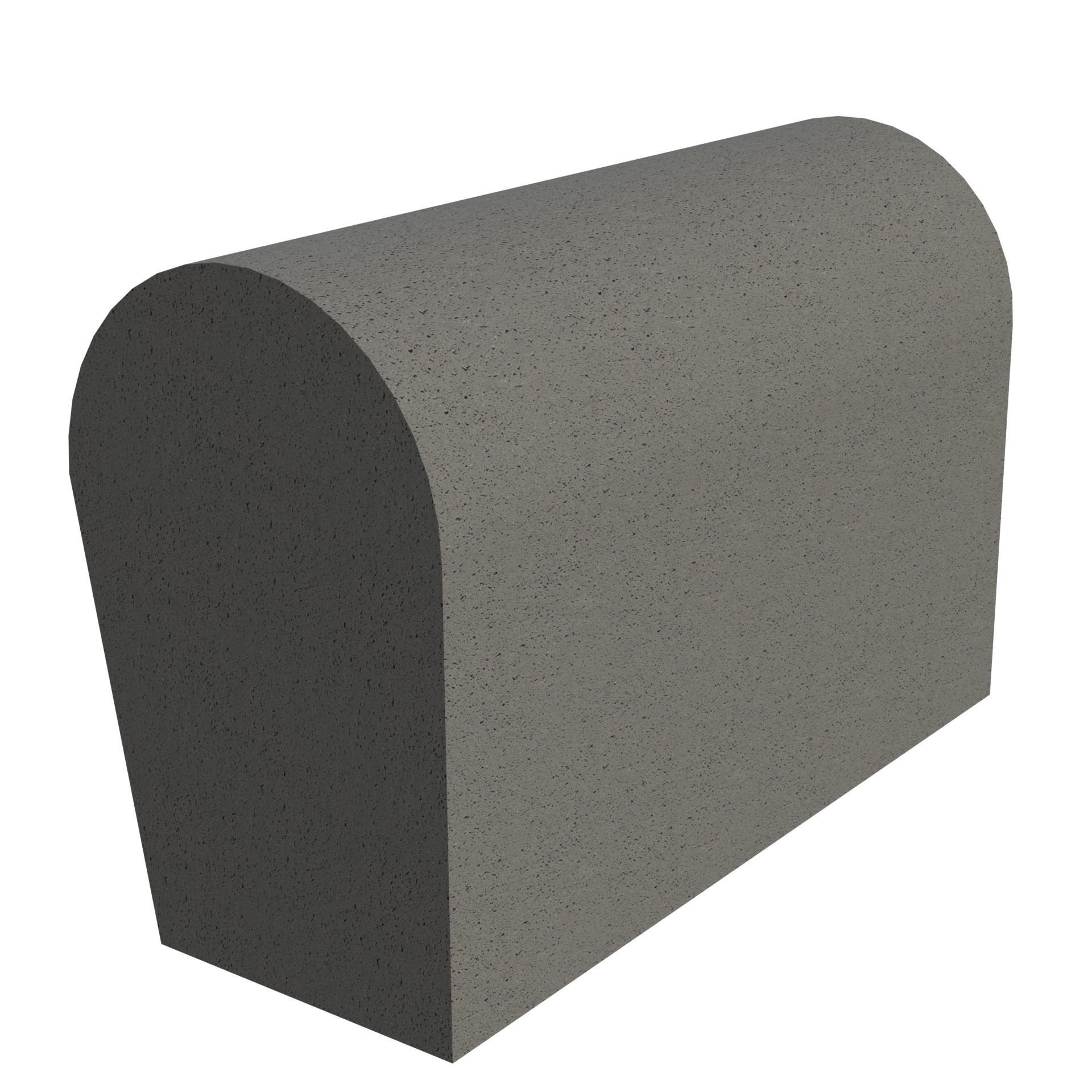 SANDTOFT TILES - Concrete Half Round Mono Ridge With Block End RH