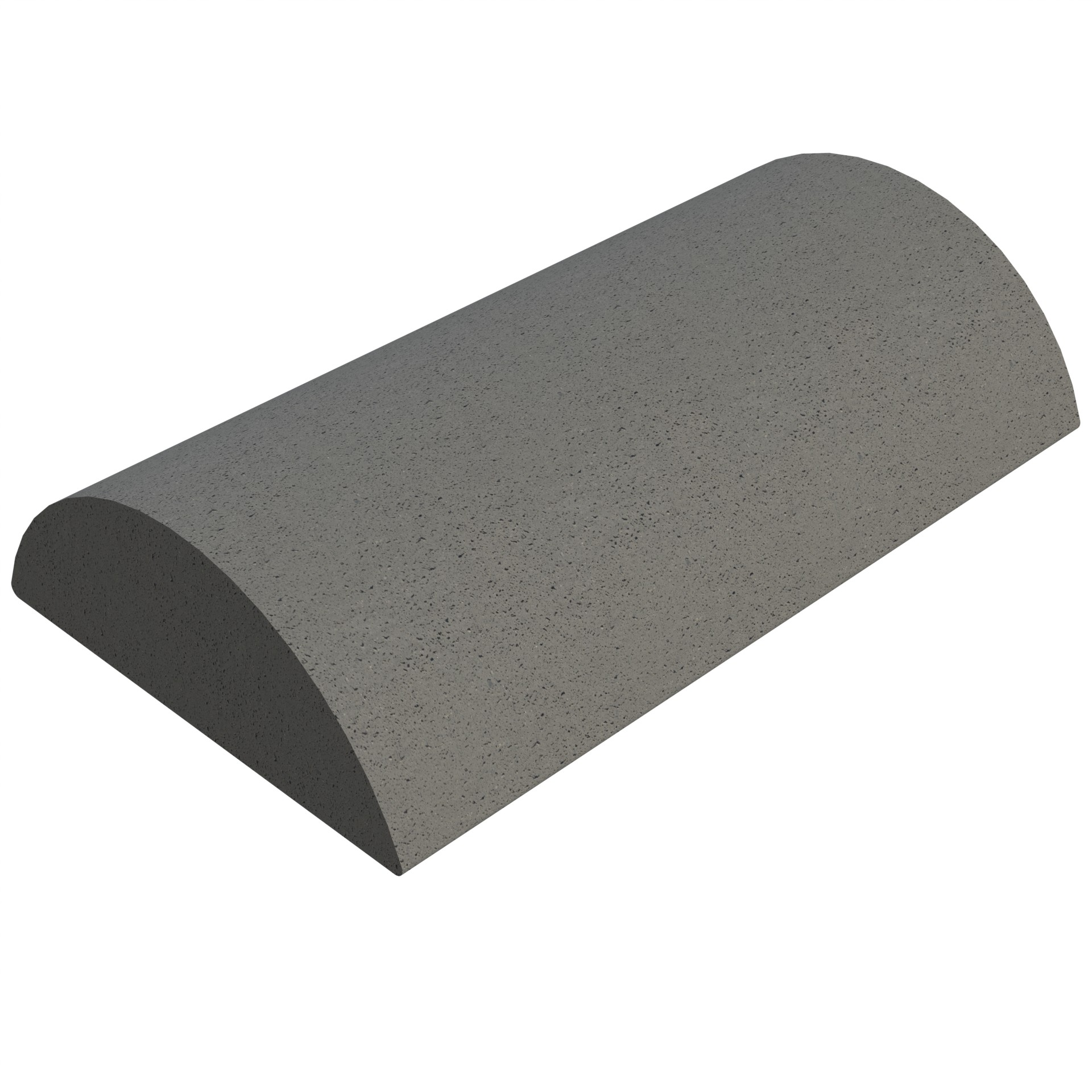 SANDTOFT TILES - Concrete Half Round Ridge With Gable Stop End