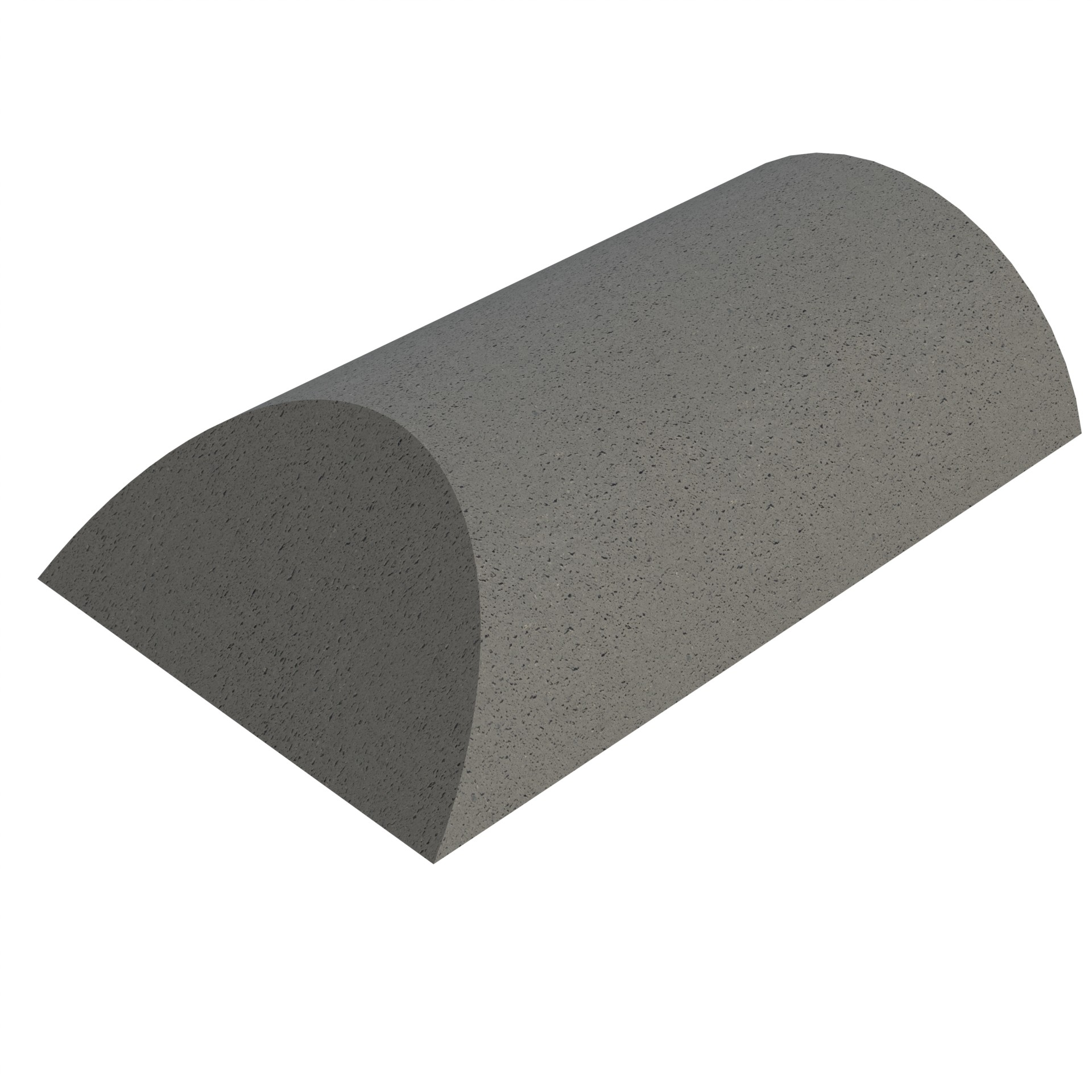 SANDTOFT TILES - Concrete Half Round Ridge With Hip End
