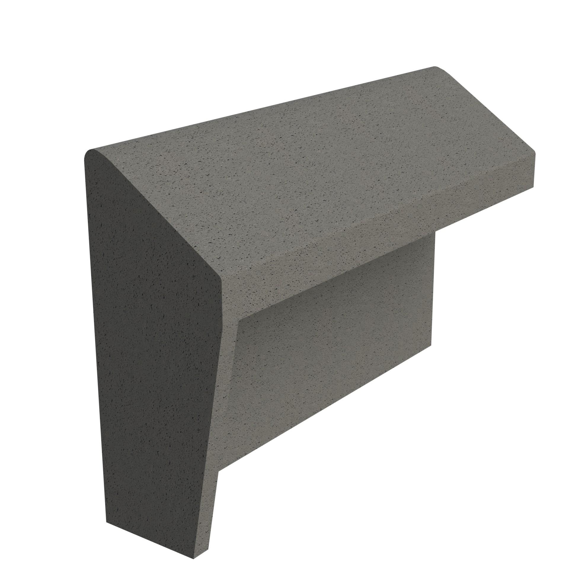 SANDTOFT TILES - Concrete Legged Angle Mono Ridge With Block End LH