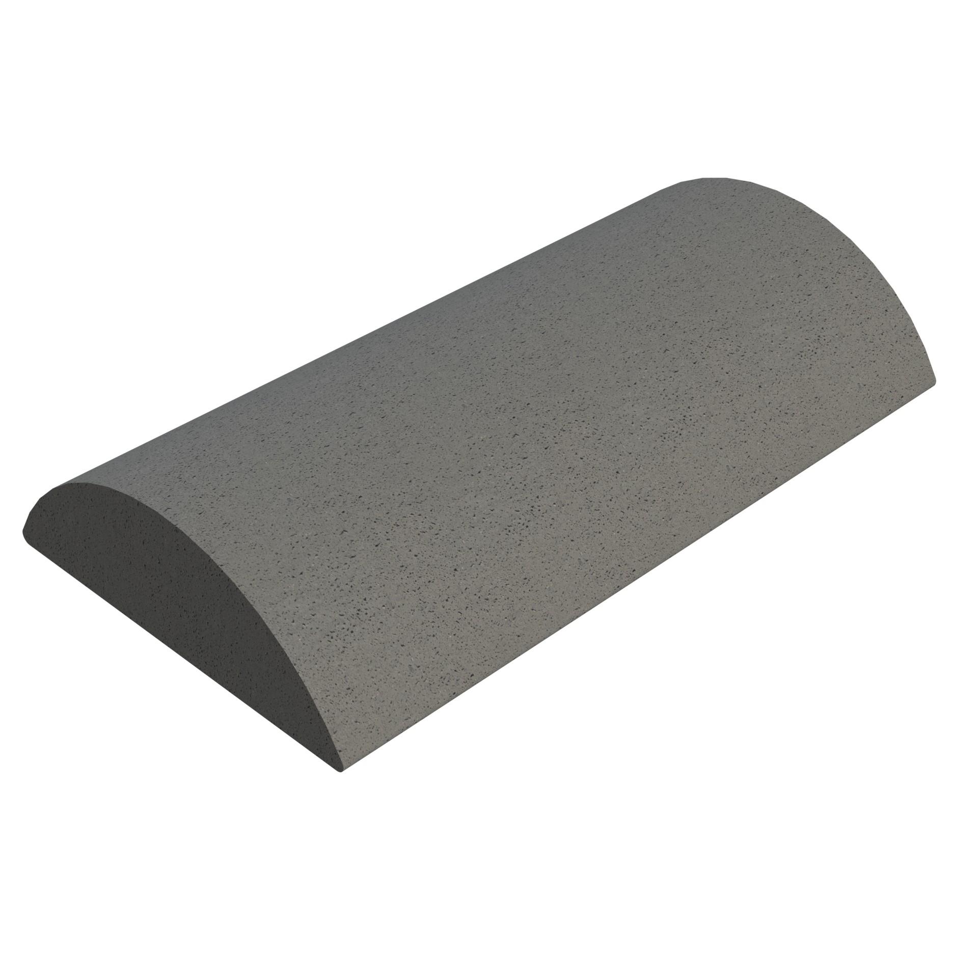 SANDTOFT TILES - Concrete Segmental Ridge With Gable Stop End