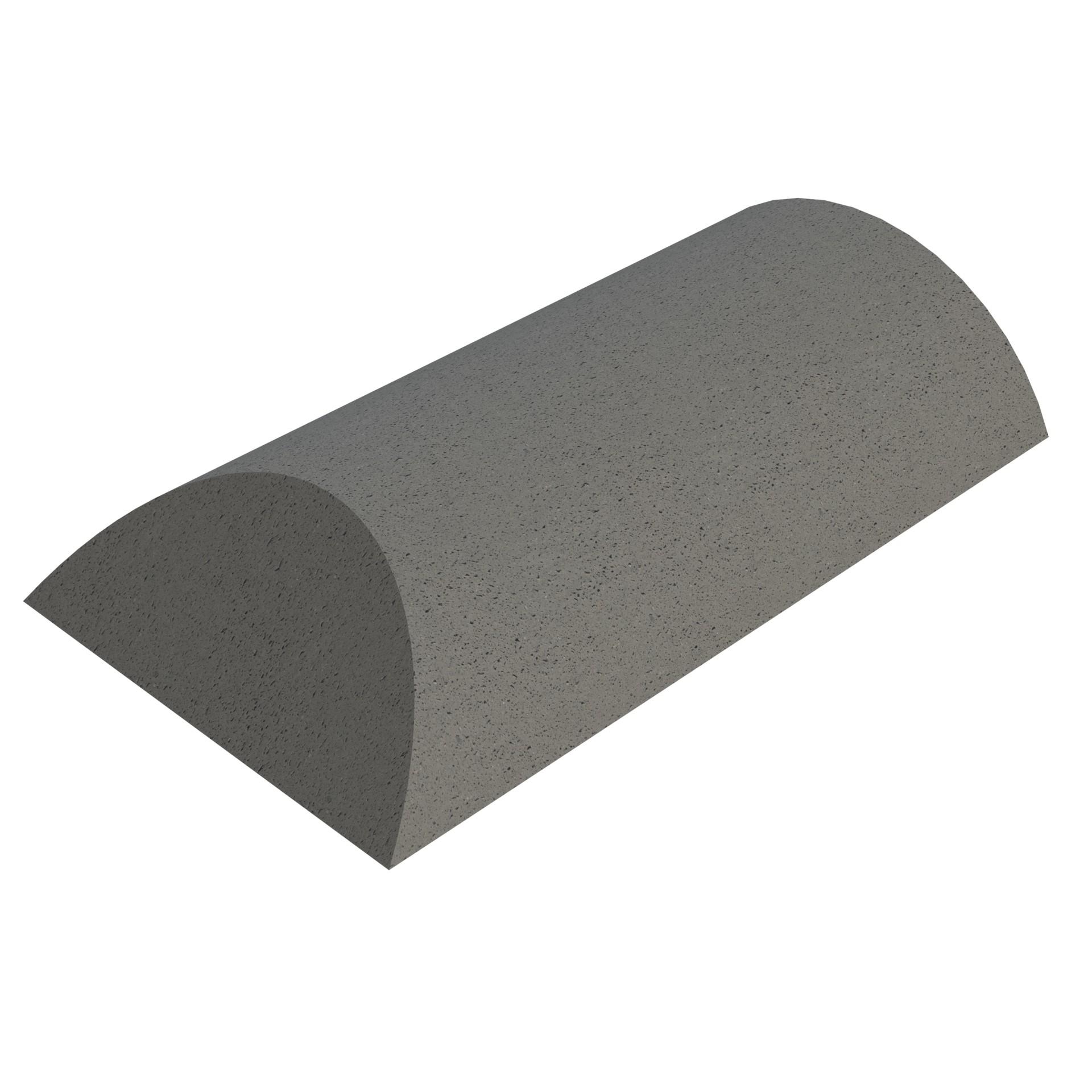 SANDTOFT TILES - Concrete Segmental Ridge With Hip End