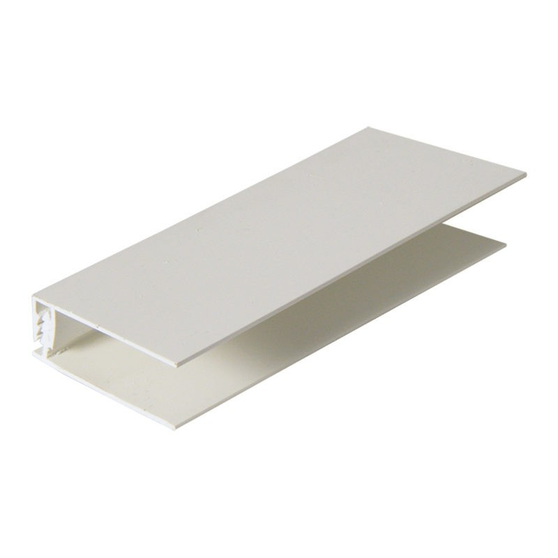 FLOPLAST Top Edge Trim (two part) - Various Woodgrain Foil Colours/White