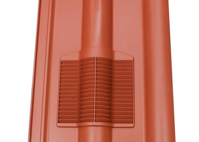 Klober Double Pantile Vent Terracotta   KLODPVTC