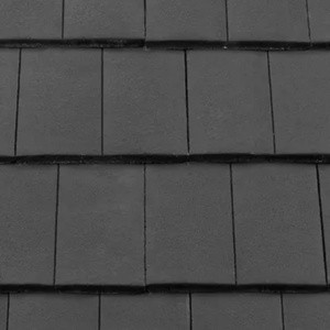 REDLAND ROOFING TILE DuoPlain, 77 Charcoal Grey (Coated), Smooth Finish, Concrete