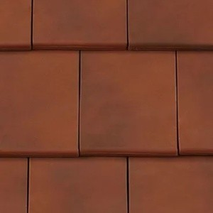 REDLAND ROOFING TILE Fontenelle Interlocking Clay Plain Tile, 82 Brindle, Smooth Finish, Clay