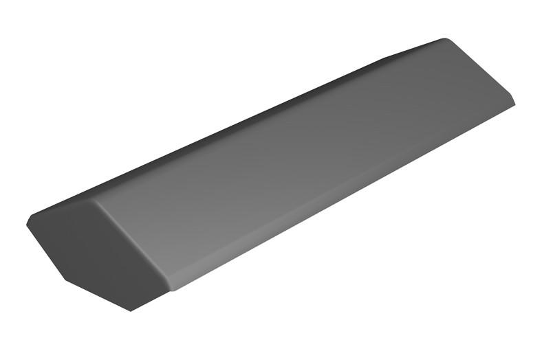 MARLEY TILES Fibre Cement 900mm Duo Pitch Ridge Stop End
