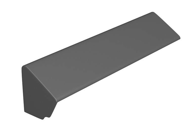 MARLEY TILES Fibre Cement 900mm Monopitch Ridge Stop End