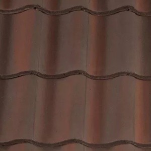 REDLAND ROOFING TILE Fenland Pantile, 52 Breckland Brown, Smooth Finish, Concrete