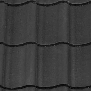 REDLAND ROOFING TILE Fenland Pantile, 63 Black (Coated), Smooth Finish, Concrete