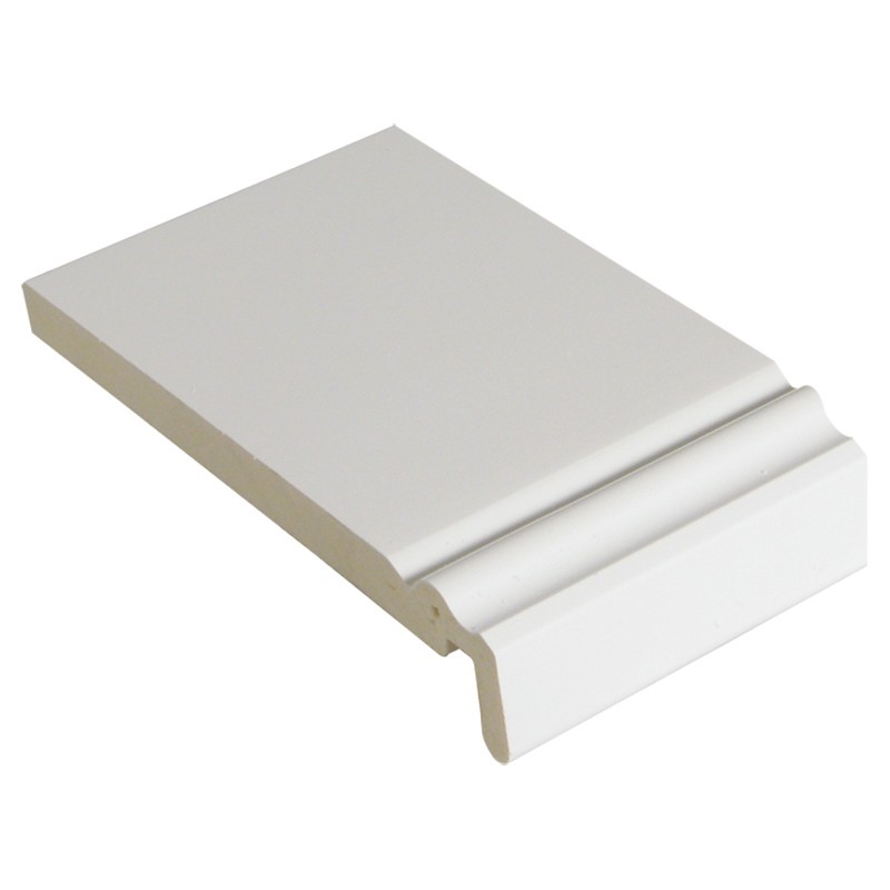 FLOPLAST Ogee Mammoth Board 18mm - Single Edge - 175mm - White