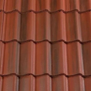 REDLAND ROOFING TILE Grovebury, 78 Rustic Red (Coated), Smooth Finish, Concrete