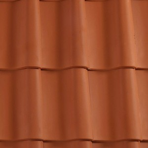 REDLAND ROOFING TILE Hollander Clay Pantile, 80 Red, Smooth Finish, Clay