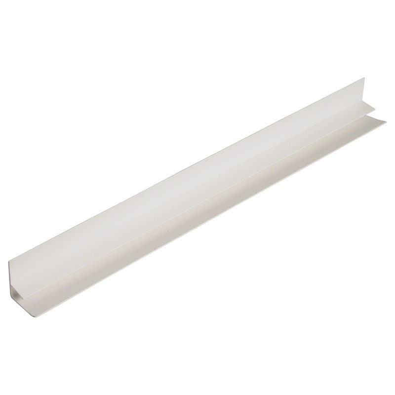FLOPLAST Hollow Soffit Trim - F Trim - Various Woodgrain Foil Colours/White