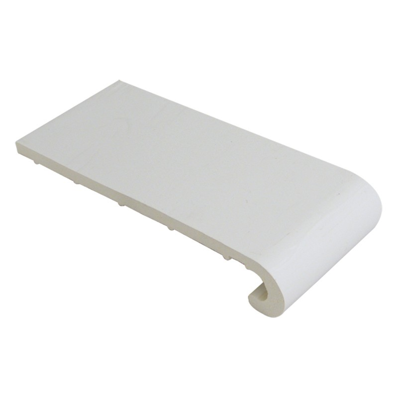 FLOPLAST Hockey Window Board 9mm - Single Round Edge - 175mm - White