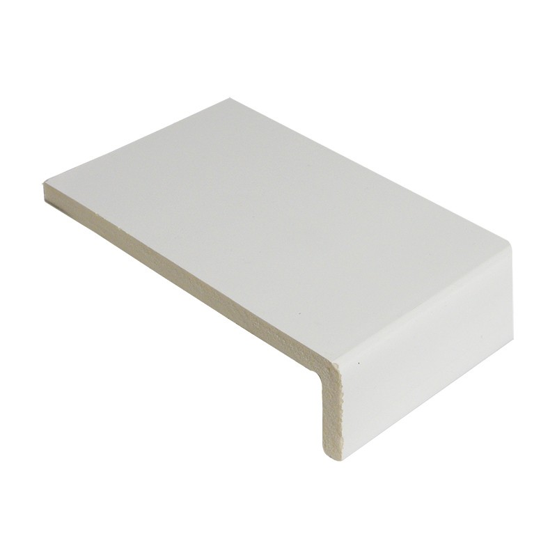 FLOPLAST Square Edge Universal Board 9mm Single Leg - 150mm - White