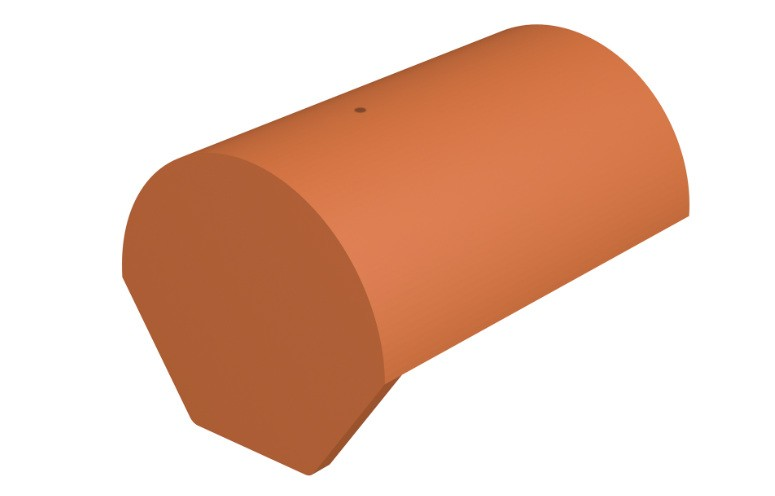 MARLEY TILES Lincoln Clay 375mm Half Round Ridge End