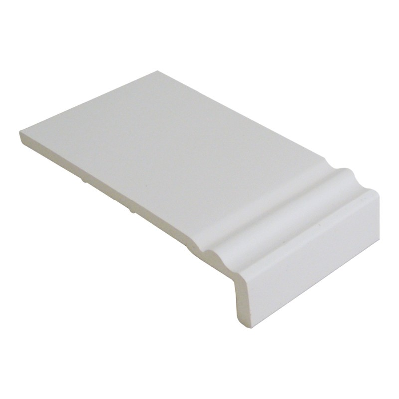 FLOPLAST Ogee Fascia Board 10mm - Single Leg - 250mm - White