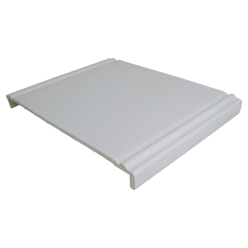 FLOPLAST Ogee Fascia Board 10mm - Double Leg - 404mmmm - White