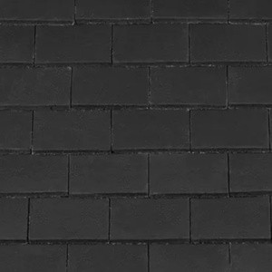 REDLAND Plain Roofing Tile, 63 Black (Coated), Smooth Finish, Concrete