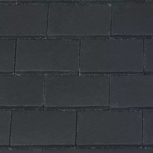 REDLAND Plain Roofing Tile, 77 Charcoal Grey (Coated), Smooth Finish, Concrete