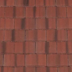 REDLAND Plain Roofing Tile, 78 Rustic Red (Coated), Smooth Finish, Concrete