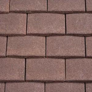 REDLAND Plain Tile Ornamental, 18 Hedgerow Brown (Granular), Sanded / Granular, Concrete