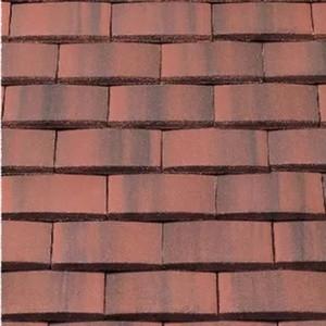 REDLAND Plain Tile Ornamental, 39 Farmhouse Red, Smooth Finish, Concrete