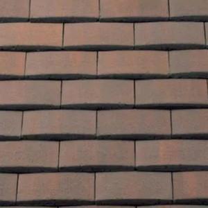 REDLAND Plain Tile Ornamental, 52 Breckland Brown, Smooth Finish, Concrete