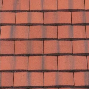 REDLAND Plain Tile Ornamental, 78 Rustic Red (Coated), Smooth Finish, Concrete