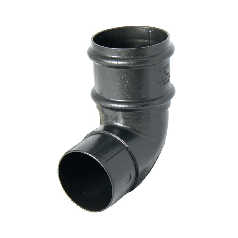 FLOPLAST Guttering 68mm Round Cast Iron Style - Offset Bends