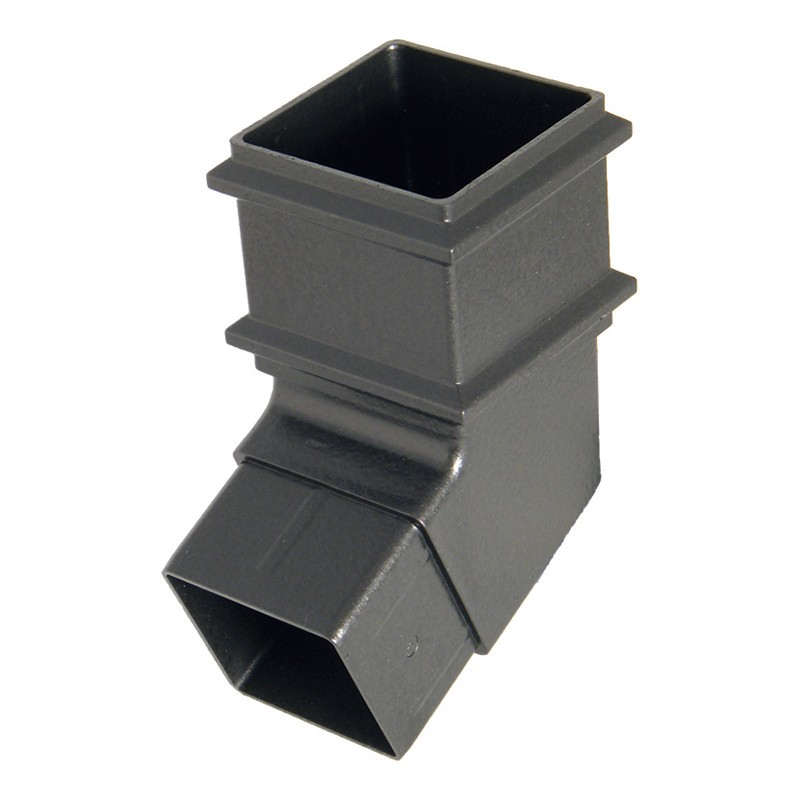 FLOPLAST Guttering 65mm Square Cast Iron Style - Offset Bends