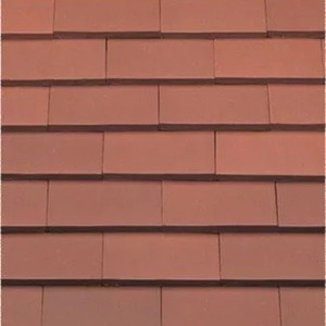 REDLAND ROOFING TILE Rosemary Classic Ornamental, 80 Red, Smooth Finish, Clay