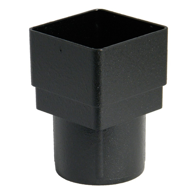 FLOPLAST Guttering 68mm Round Cast Iron Style - Square/Round Downpipe Adaptors
