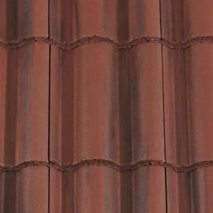 REDLAND ROOFING TILE Regent, 78 Rustic Red (Coated), Smooth Finish, Concrete