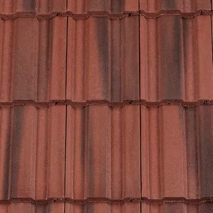 REDLAND ROOFING TILE REDLAND ROOFING TILE 49, 78 Rustic Red (Coated), Smooth Finish, Concrete
