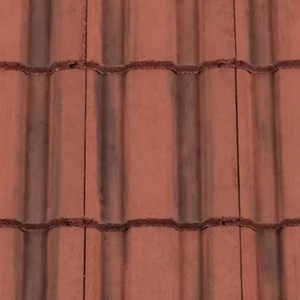 REDLAND ROOFING TILE Renown, 39 Farmhouse Red, Smooth Finish, Concrete