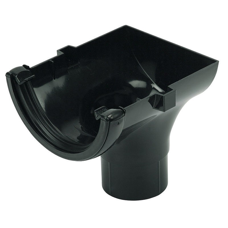 FLOPLAST Guttering 112mm Half Round - Stopend Outlets