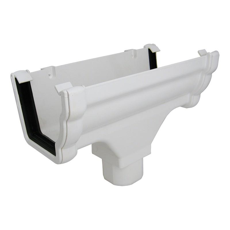 FLOPLAST Guttering 110mm Niagara Ogee - Running Outlets