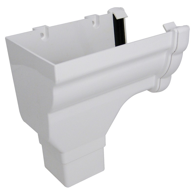 FLOPLAST Guttering 110mm Niagara Ogee - Stopend Outlets