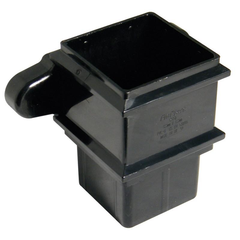 FLOPLAST Guttering 65mm Square - Pipe Sockets