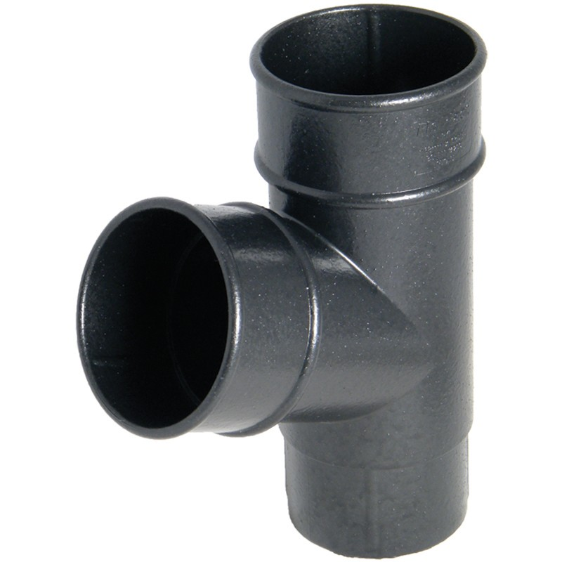 FLOPLAST Guttering 68mm Round Cast Iron Style - Branches