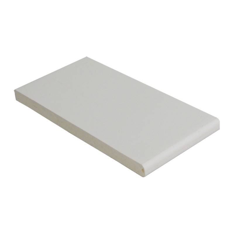 FLOPLAST Multi-Purpose Board 10mm - Single Round Edge - 500mm - White